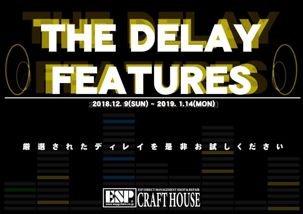 THE DELAY FEATURES 開催