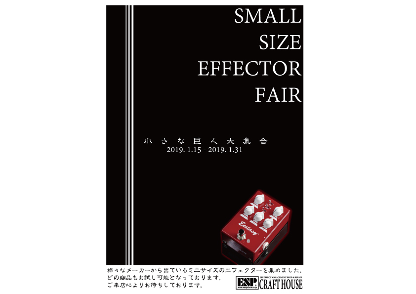 SMALL SIZE EFECTOR FAIR 開催