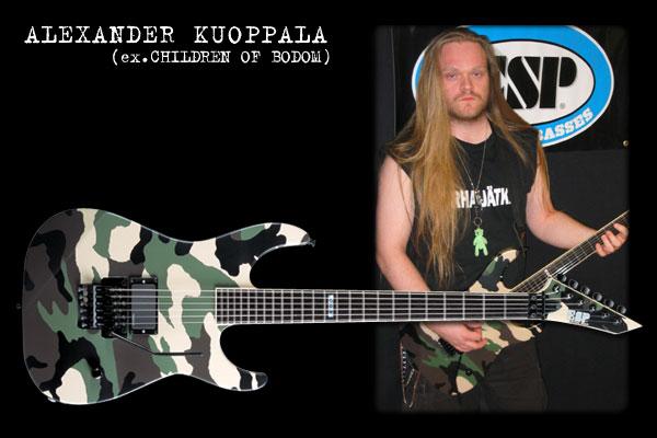 ESP ARTIST CUSTOM GUITARS---ALEXANDER KUOPPALA---