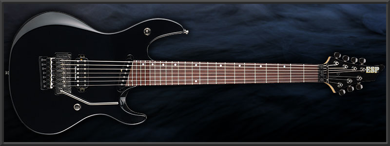 "ESP Ruiza Model ""Black Growl 7st"""