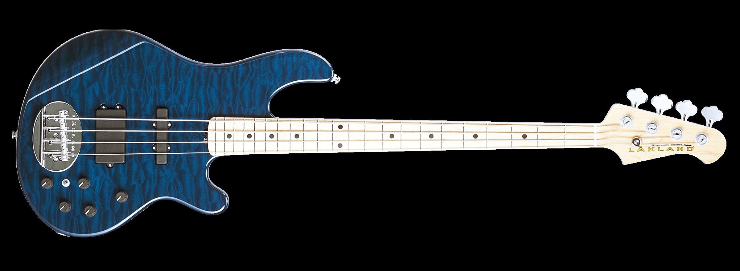 Blue Translucent / Maple FB