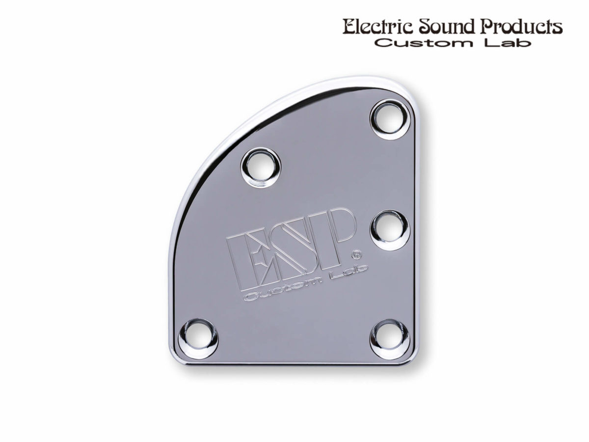 T-5 Neck Set Plate Brass Wide Chrome