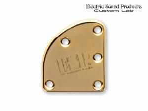 T-5 Neck Set Plate Brass Wide Gold