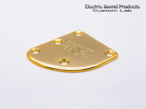 T-5 Neck Set Plate Brass Wide Gold