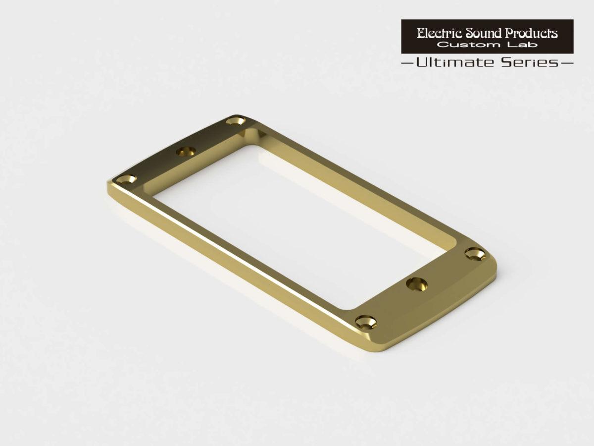 ESP Beveled PU Ring Flat-2 Brass Gold